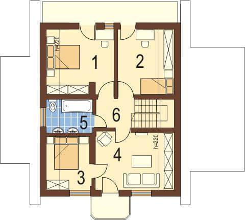 Projekt domu DM-5531 - rzut
