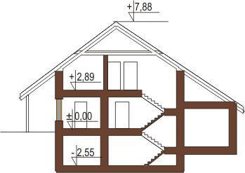 Projekt domu DM-5531 - przekrój