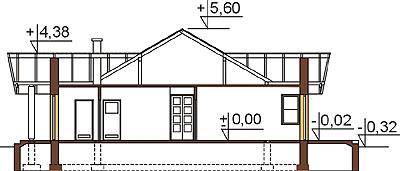 Projekt domu DM-6141 - przekrój