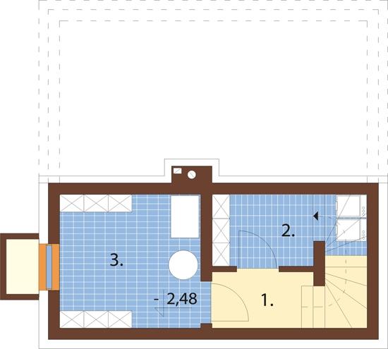 Projekt domu DM-6143 - rzut