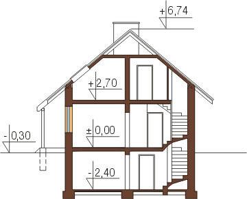 Projekt domu DM-6143 - przekrój
