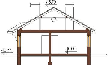 Projekt domu DM-6299. - przekrój