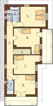 Projekt domu DM-6488 - rzut