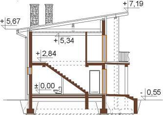 Projekt domu DM-6488 - przekrój