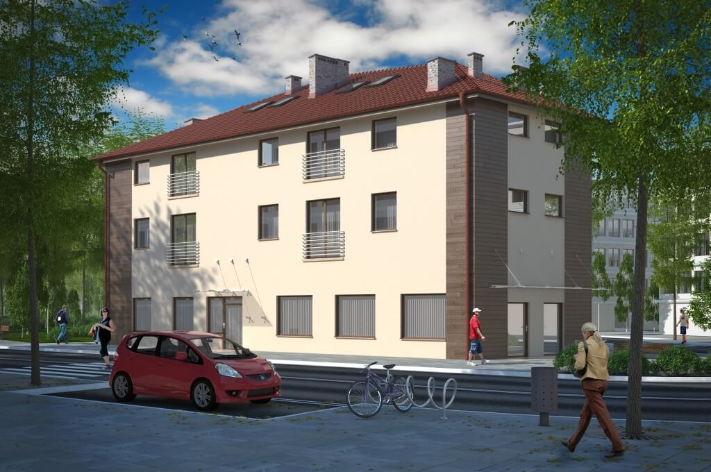 Budynek usługowo - mieszkalny