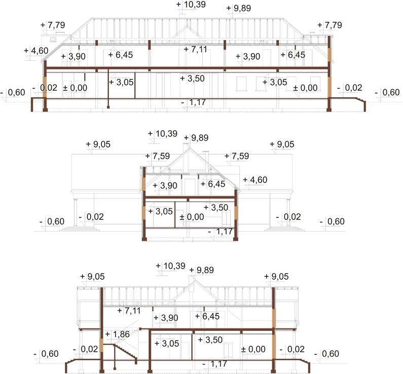 Projekt K-36 - przekrój