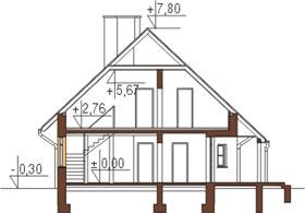Projekt domu DM-6149 - przekrój
