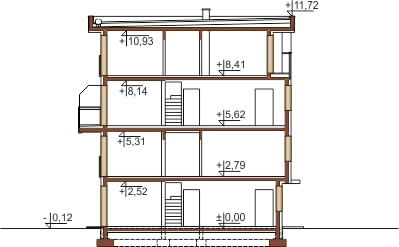 Projekt domu DM-6491 - przekrój