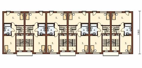 Projekt domu DM-6491 - rzut