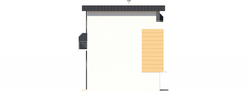 Projekt domu L-6491 - elewacja
