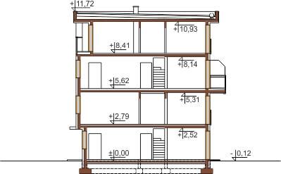 Projekt domu L-6491 - przekrój