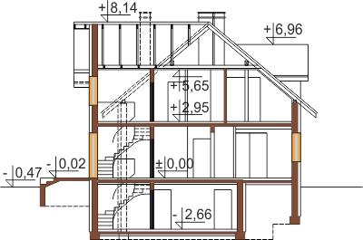 Projekt domu DM-6489 - przekrój