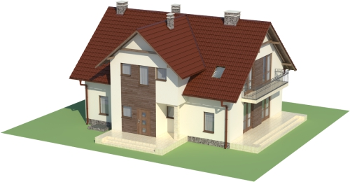 Projekt domu DM-6489 - model