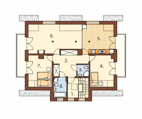 Projekt domu L-6489 - rzut