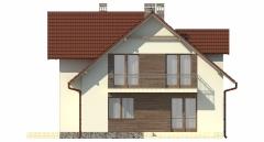 Projekt domu L-6489 - elewacja