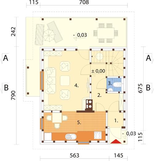 Projekt domu DM-6152 - rzut