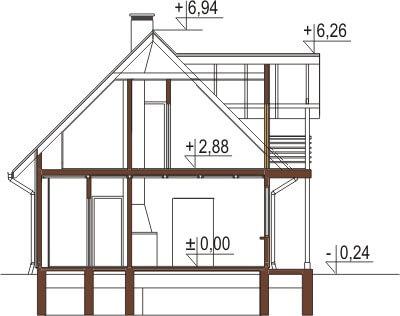 Projekt domu DM-6152 - przekrój