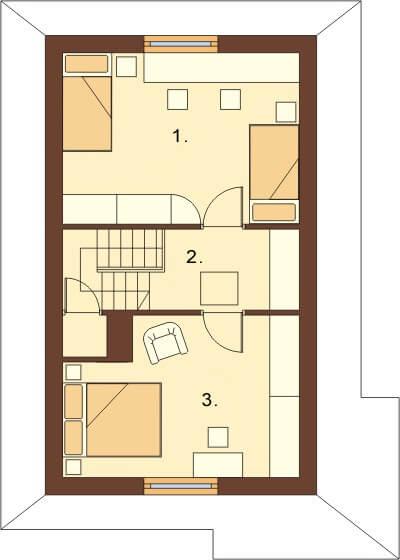 Projekt domu L-6038 - rzut