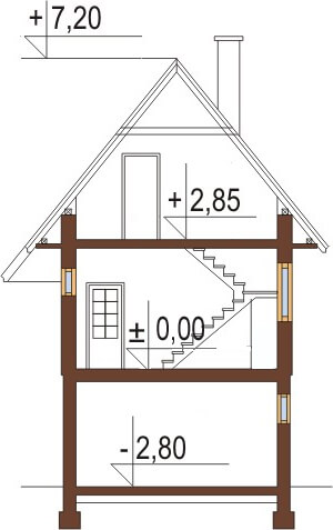 Projekt domu L-6038 - przekrój