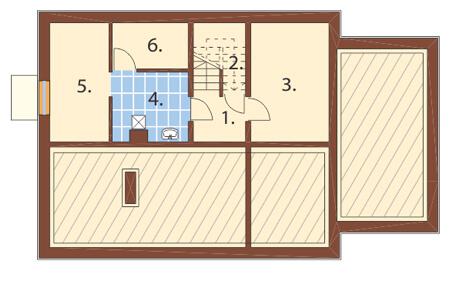Projekt domu DM-6156 - rzut