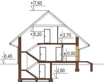 Projekt domu DM-6156 - przekrój