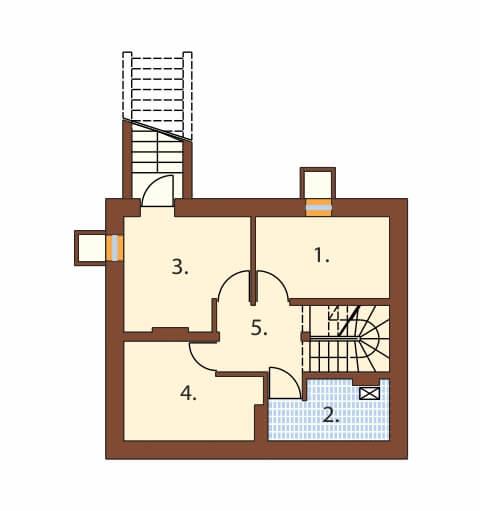 Projekt domu DM-6190 B - rzut
