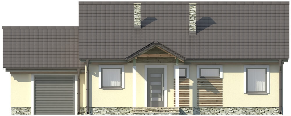 Projekt domu DM-5538 - elewacja