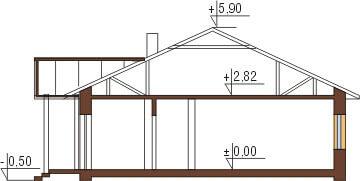 Projekt domu DM-5538 - przekrój