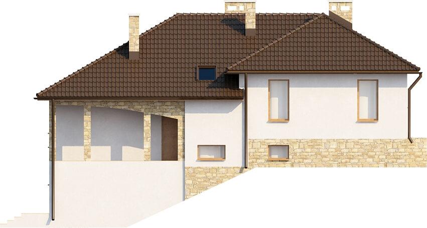 Projekt domu DM-6158 - elewacja