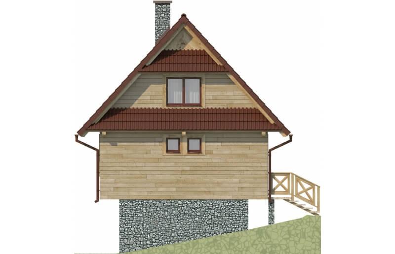 Projekt domu L-6082 - elewacja