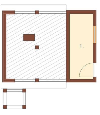 Projekt domu L-6082 - rzut