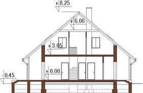 Projekt domu DM-6159 - przekrój