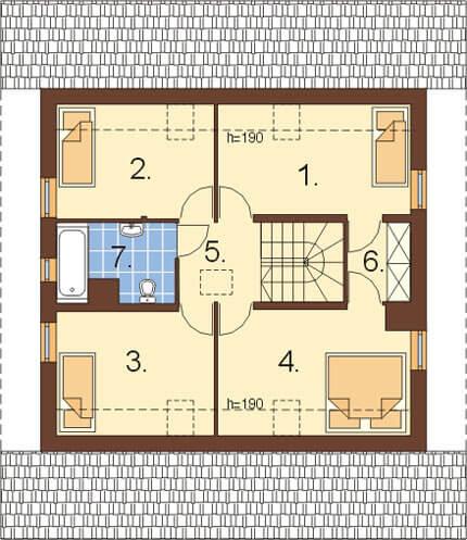 Projekt domu DM-6159 - rzut