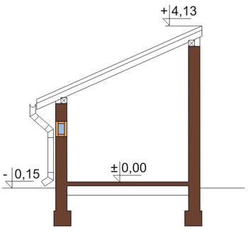 Projekt LZG-49 - przekrój