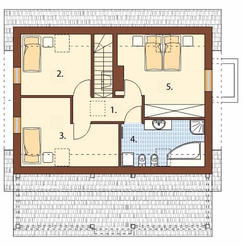 Projekt domu DM-6500 - rzut
