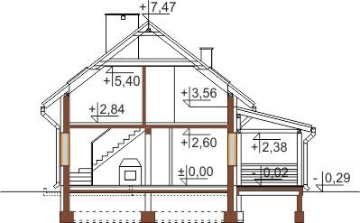 Projekt domu DM-6500 - przekrój