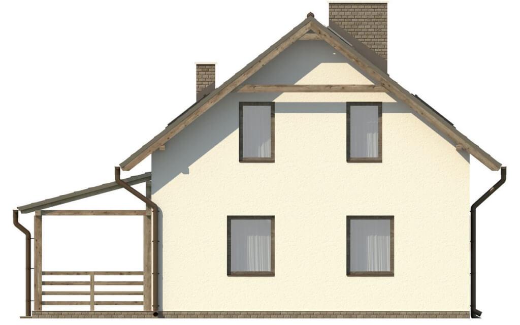 Projekt domu L-6500 - elewacja