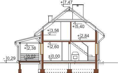 Projekt domu L-6500 - przekrój
