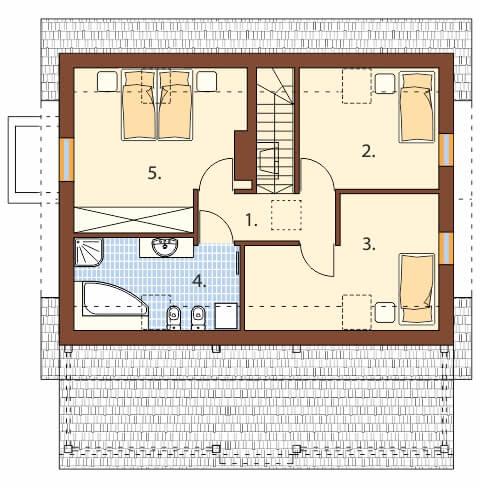 Projekt domu L-6500 - rzut