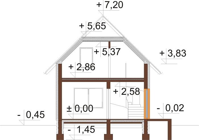 Projekt domu DM-5582 C - przekrój