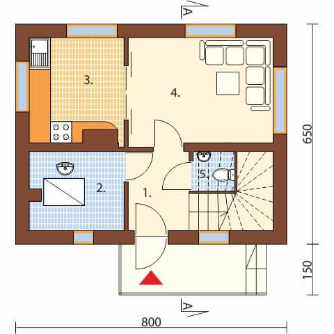 Projekt domu DM-5582 C - rzut