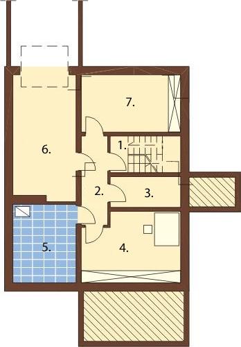 Projekt domu DM-6164 - rzut