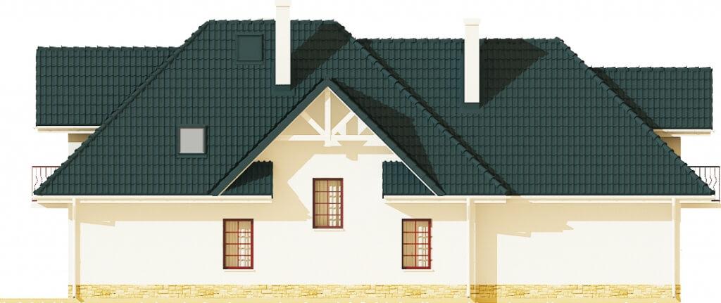 Projekt domu DM-6350 B - elewacja