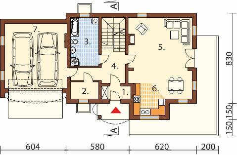 Projekt domu DM-6350 B - rzut