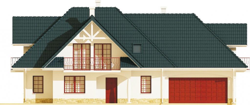 Projekt domu L-6350 B - elewacja
