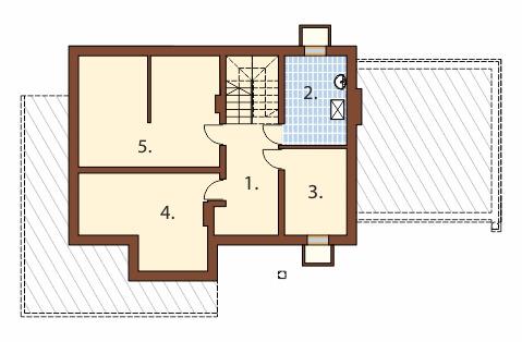Projekt domu L-6350 B - rzut
