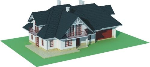 Projekt domu L-6350 B - model