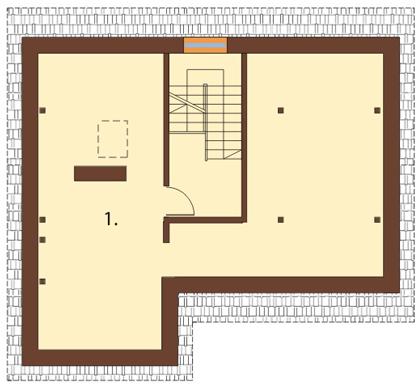 Projekt domu DM-6165 - rzut