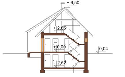 Projekt domu DM-6165 - przekrój