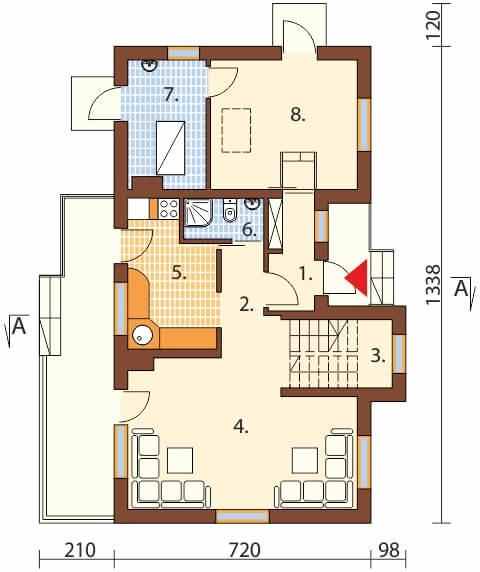 Projekt domu DM-6251 B - rzut